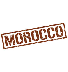 Morocco brown square stamp vector