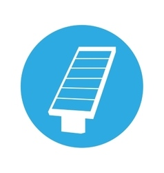 Panel solar energy alternative icon vector