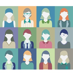 People who are women vector image vector image