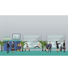 School concept banner interior pupils vector
