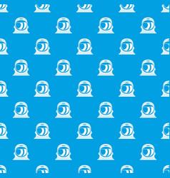 Space helmet pattern seamless blue vector