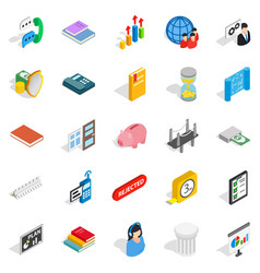 Squad icons set isometric style vector
