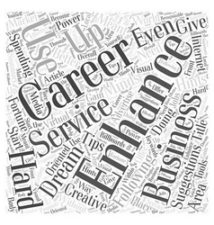 Suggestions to enhance your career word cloud vector