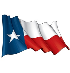 Texas Waving Flag vector image vector image