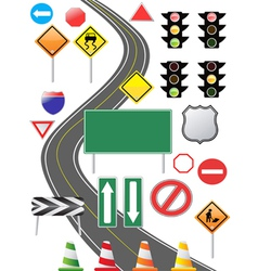 Traffic sign icon vector