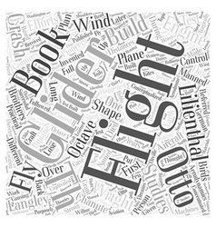 Th and th century flight efforts word cloud vector