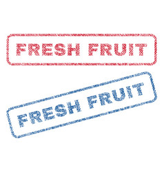Fresh fruit textile stamps vector