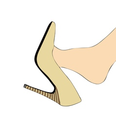 Foot and high heels vector