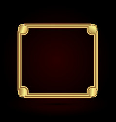 set of gold photo frame with corner thailand line vector image
