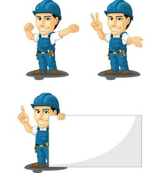 Technician or repairman mascot 7 vector