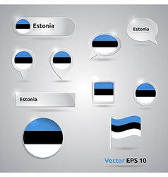 Estonia icon set of flags vector