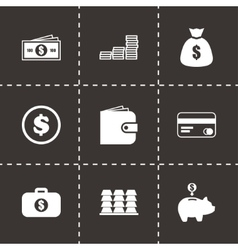 Money icon set vector
