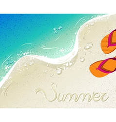 Flip flops summer time holiday background vector