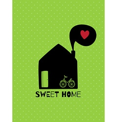 Greeting card sweet home vector