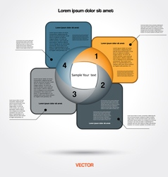 Infographic business project for four positions vector