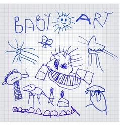 baby art vector image