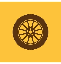 The tire icon Wheel symbol Flat vector image