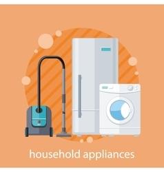 Household Appliances Flat Design vector image
