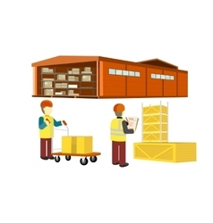 Ddelivery equipment warehouse vector