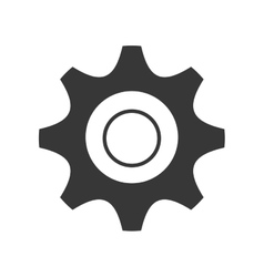 Black and white settings icon graphic vector