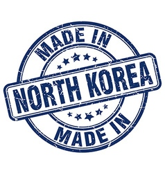 Made in north korea vector