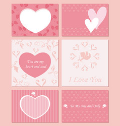 a set of assorted valentines day cards vector image