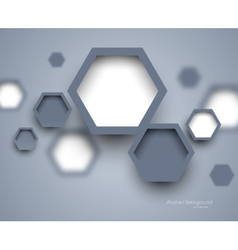 Abstract science gray background vector