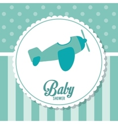 Baby shower design airplane icon graphic vector