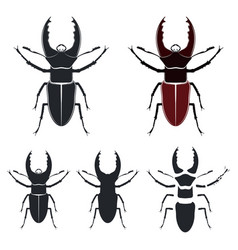 Beetle deer vector