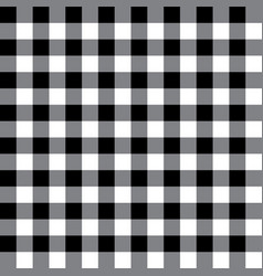 black and gray plaid fabric pattern vector image vector image