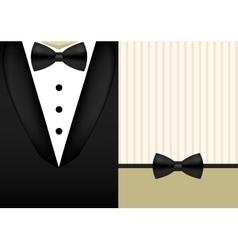 Bow tie tuxedo invitation design template vector