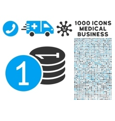 Coins Icon with 1000 Medical Business Symbols vector image vector image