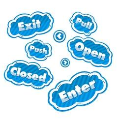 Door-signs 2 vector