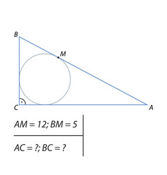 Finding the legs of a right triangle vector