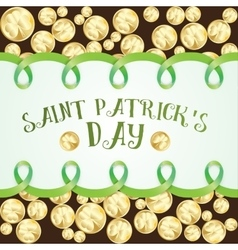 Greeting card for St Patrics Day vector image