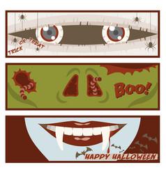 halloween comic strip banner vector image vector image