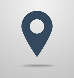 Icon of map pointer vector image vector image