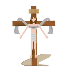 Jesus christ sacred cross vector