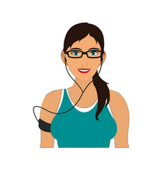 Jogging girl cartoon draw vector