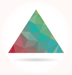 Low poly triangle vector image vector image