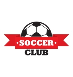 New soccer club sign vector