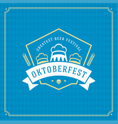 Oktoberfest beer festival celebration vintage vector