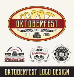 Oktoberfest celebration logo sets beer and beverag vector