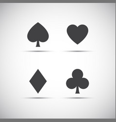 Playing card symbols isolated on white background vector