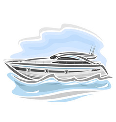 powerboat vector image