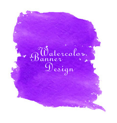 purple watercolor banner design vector image vector image