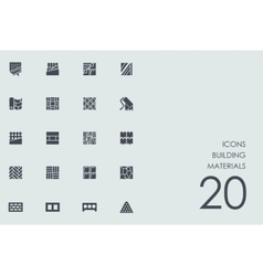 Set of building materials icons vector image