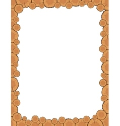 Tree rings frame vector