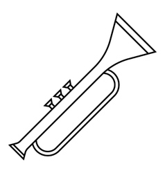 Trumpet icon outline style vector image