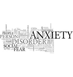 When anxiety becomes a disorder text word cloud vector